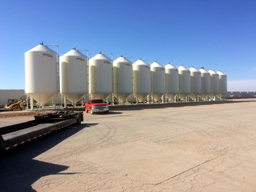 Frac Sand Storage Bins - Amber Waves Inc